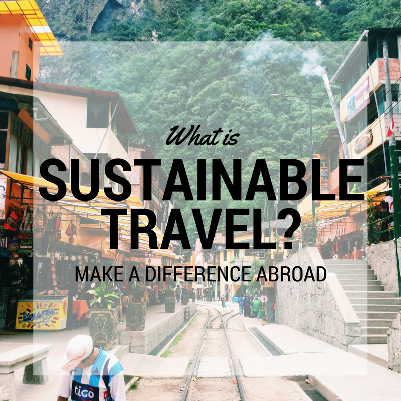 What is sustainable travel?